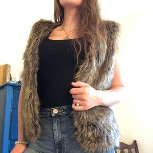 Tops - Faux Fur Vest